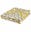 in2green Vintage Tile Yellow/Camel/Ivory Indoor/Outdoor Throw