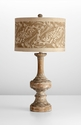 Inari Table Lamp with Cotton Shade by Cyan Design