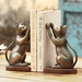 Inquisitive Cat Bookends by SPI Home