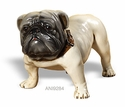 Intrada Italy Antique White Bulldog Dog Statue