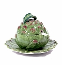 "Intrada Italy Artichoke Sauce Boat with Plate 8""D"