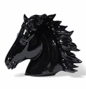 Intrada Italy Black Horse Head Statue