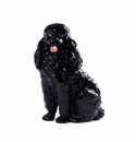 Intrada Italy Black Poodle Dog Statue