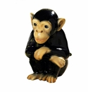 Intrada Italy Black Sitting Monkey Statue