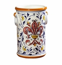 """Intrada Italy Bottle holder with Red Fleur de Lys 9""""H"""
