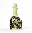 "Intrada Italy Bottle with Olive & Scenery Design 9.5""H x 4.5""W"