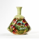 "Intrada Italy Bottle with Pomegranate & Scenery Design 11""H x 10""W"