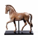 Intrada Italy Brown Horse Stone Look with Black Base