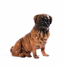 Intrada Italy Brown Patinato Bulldog Dog Statue