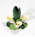 """Intrada Italy Calla Lily Candle Holder 5.5""""D x 4.5""""H"""
