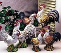 "Intrada Italy Campagna 13"" Colored Rooster Statue"
