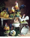 """Intrada Italy Campagna 16"""" White Rooster Statue"""