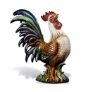 "Intrada Italy Campagna 23"" Colored Rooster Statue"