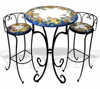 Intrada Italy Ceramic Bistro Table with Iron Base