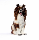Intrada Italy Collie Dog Statue