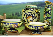 Intrada Italy Dragon & Pomegranate Majolica