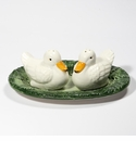 "Intrada Italy Duck Salt & Pepper with Plate 8""L"