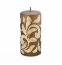 Intrada Italy Florentine Gold Large Pillar Candle