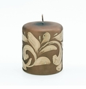 Intrada Italy Florentine Gold Small Pillar Candle