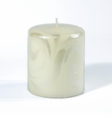 Intrada Italy Florentine Pearl White Small Pillar Candle
