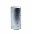 Intrada Italy Florentine Silver Large Pillar Candle