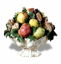 "Intrada Italy Footed Fruit Bowl Centerpiece 14""H x 15""W"