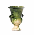 "Intrada Italy Footed Pot Green 8.5""H"