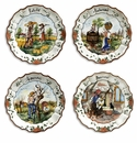 """Intrada Italy Four Seasons Set of 4 Plate 12""""D"""