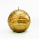Intrada Italy Gold Glitter Brushed Ball