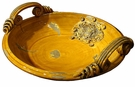 Intrada Italy Handmade Majolica Medici Honey Bowl with Handles