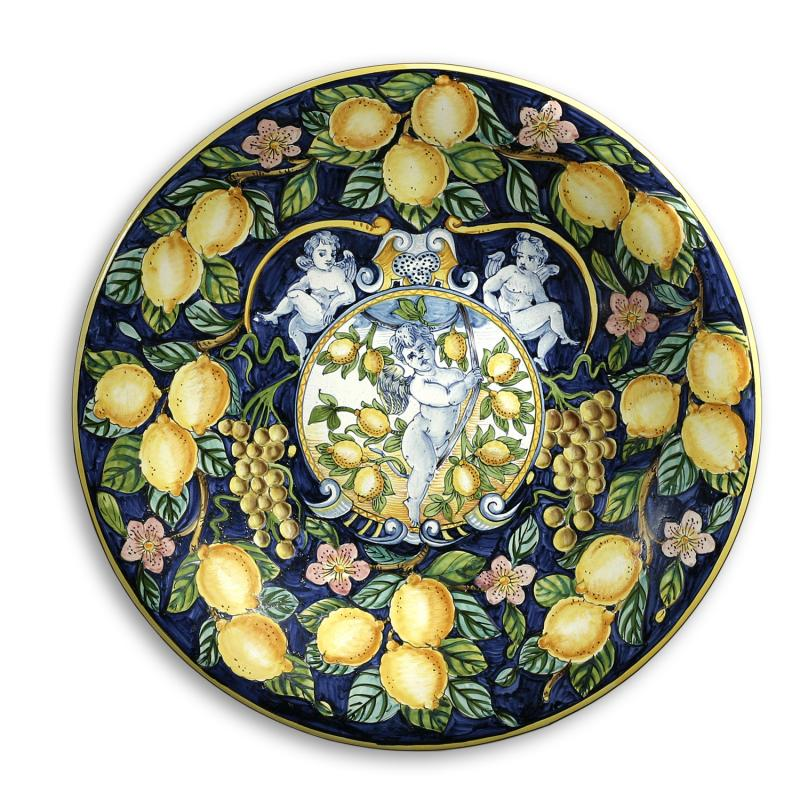 Decorative Wall Plates Italian : Intrada italy large wall plate with lemon grapes quot d