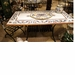 Intrada Italy Lava Stone Rectangle Ricco Deruta with 4 Chairs