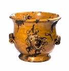 Intrada Italy Majolica Medici Honey Cachepot