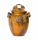 Intrada Italy Majolica Medici Honey Jar with Lid