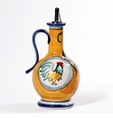 "Intrada Italy Oil Cruet with Rooster Yellow 9""H x 4.5""W"