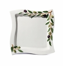Intrada Italy Olive Plate Square Wave 12.5""