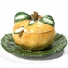 "Intrada Italy Orange Sauce Boat with Plate 4""H x 6""D"