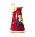 "Intrada Italy Pitcher with Rope Handles 15"" Red"
