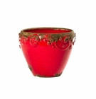 Intrada Italy Planter Antique Red Selenio 6.5""