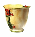"""Intrada Italy Poppies Yellow Planter 12.5""""H x 13""""D"""