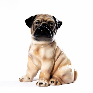 Intrada Italy Pug Sitting Dog Statue