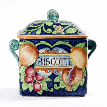 Intrada Italy Rectangle Canister Biscotti 10''H
