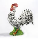"Intrada Italy Rooster Black & White 16""H"