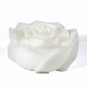 "Intrada Italy Rose White Candle Two Pieces 3.5""H x 7.5""W"