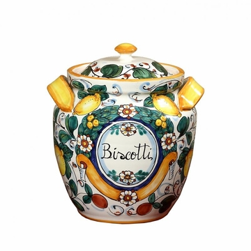 Intrada Italy Round Lemon Flower Biscotti 11''H