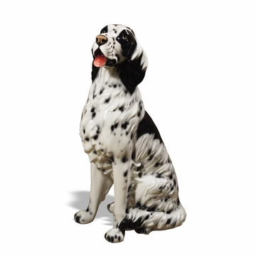 Intrada Italy Setter Black and White Statue