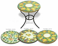 Intrada Italy Side Table Fruit Design