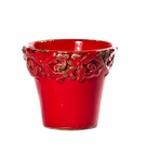"Intrada Italy Small Planter Red 5""H x 5.25""D"