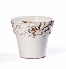 "Intrada Italy Small Planter White 5""H x 5.25""D"