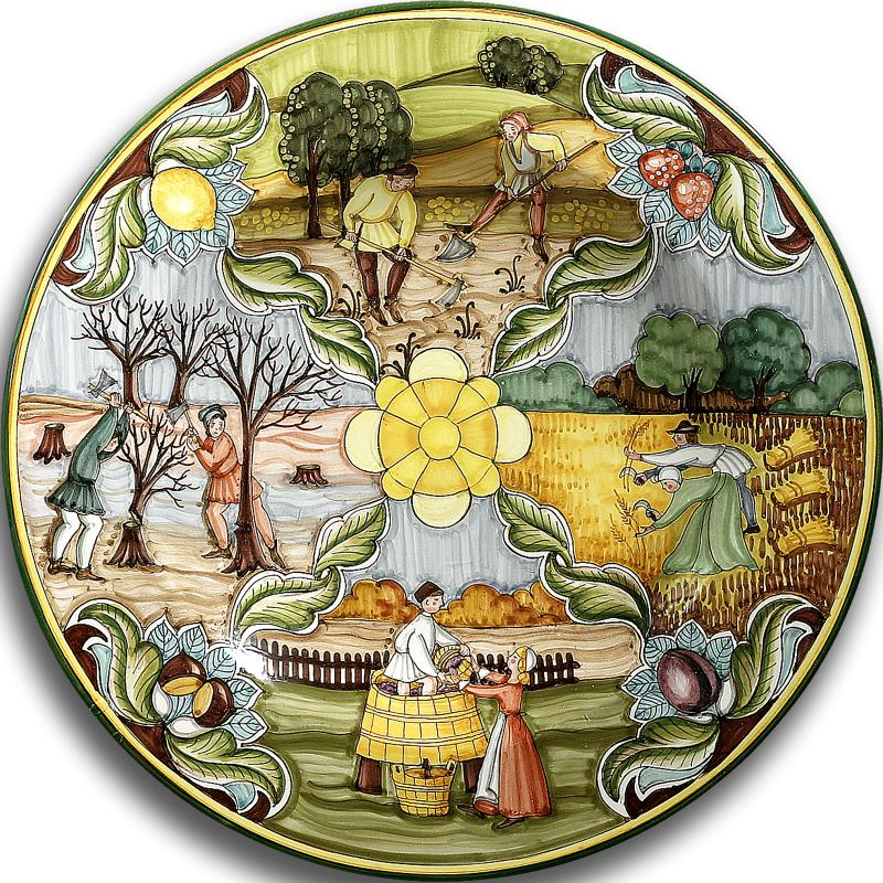 Decorative Wall Plates Italian : Intrada italy small wall plate with four seasons quot d